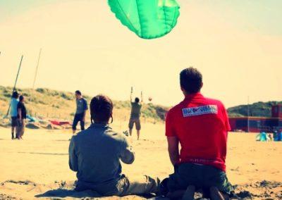 PowerKiten een workshop op het strand